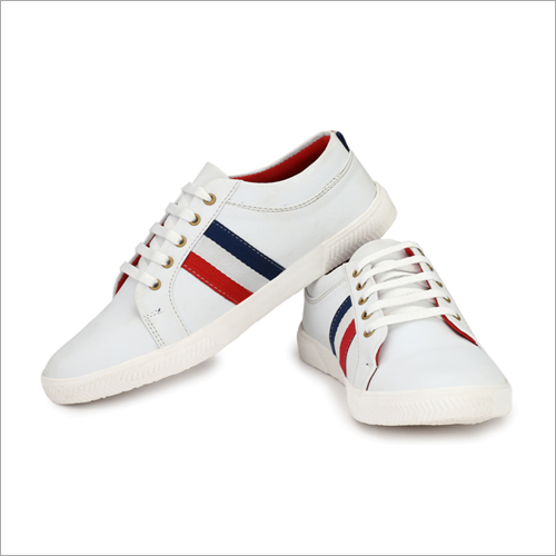 Mens White Casual Sneaker Shoes