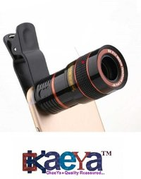 Okaeya-8x Extra Zoomer Optical Zoom Telescope Mobile Camera Lens With Tripod & Phone   Holder For Android/Ios Phones
