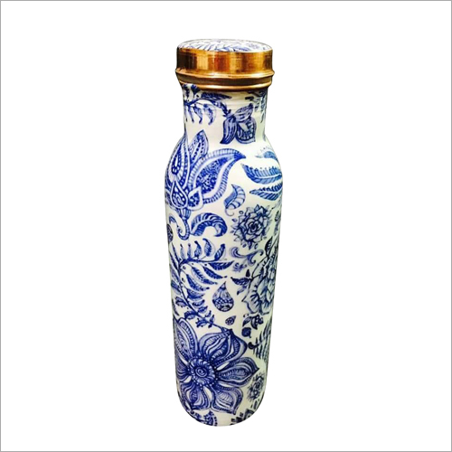 Decorative Printed Copper Bottle