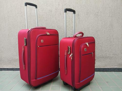 Red Polyester Trolley Bag Set