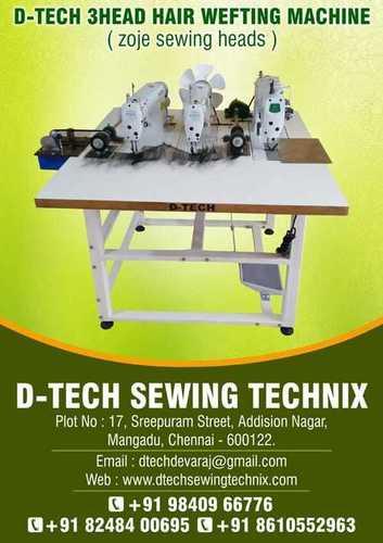 3 Head Hair Weft Sewing Machine