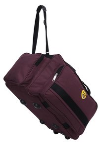 Hard Craft Nylon Lightweight Waterproof Luggage Wine Travel Bag with Roller Wheels