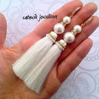 Ladies Silk Tassel Earring