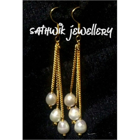 Chain Thread Earring