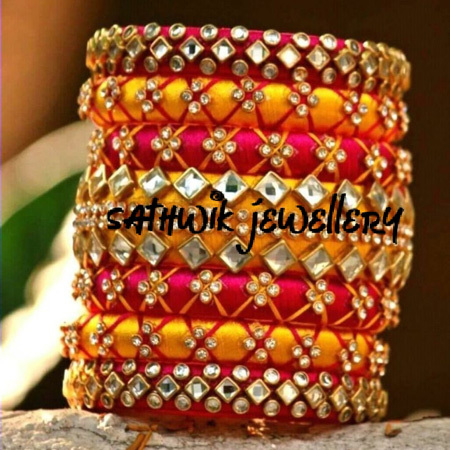 Ladies Silk Thread Bangles