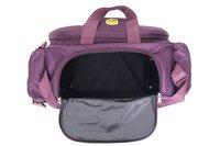 Hard Craft Unisex Duffle Luggage Nylon Travel Bag with Multiple Pockets & Roller Wheels - Wine