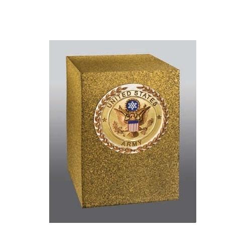 Stone Army Brass Cube Urn