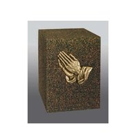 Praying Hands Bronze Cube Cremation Urn