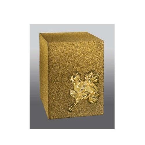 Praying Hands Bronze Cube Cremation Urn