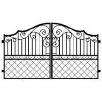 Mild Steel Grill Gate