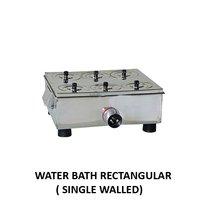 Single Wall Rectangular Water Bath