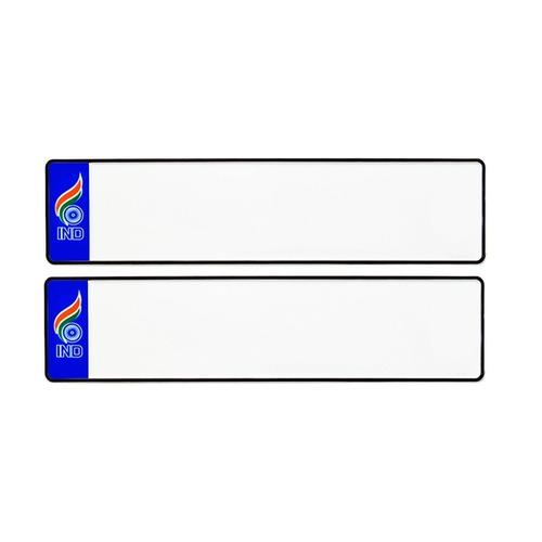 BLUE IND CAR Long Number Plates
