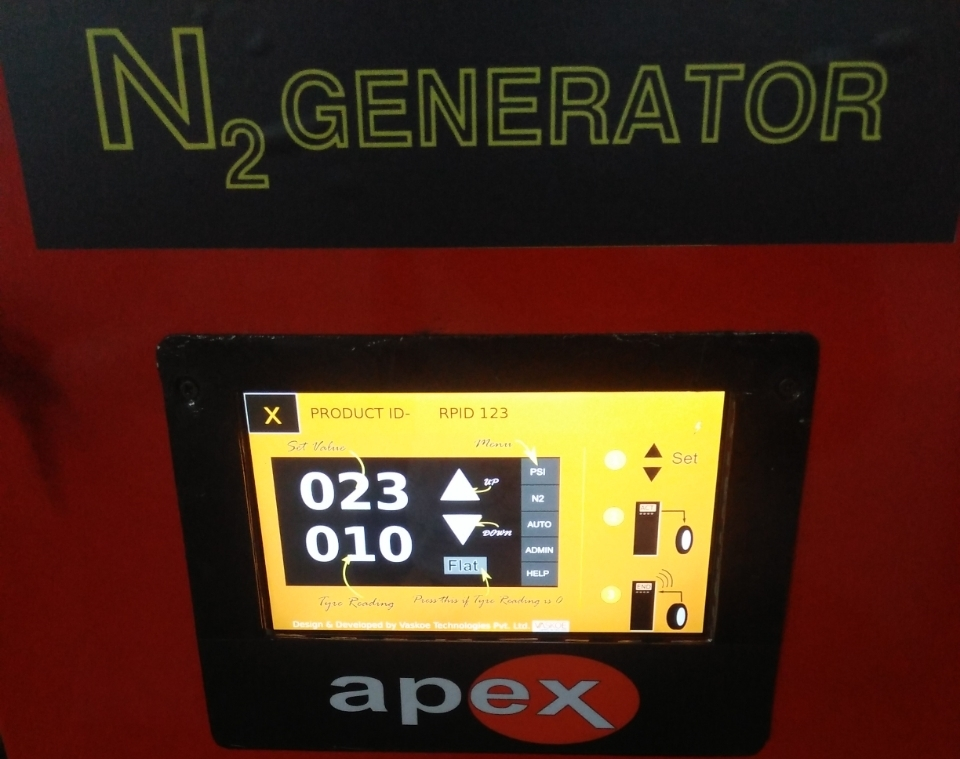Apex Smart Nitrogen tyre inflator