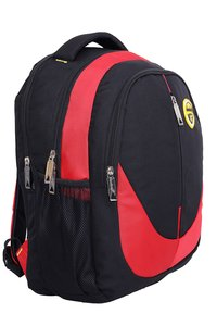 Hard Craft Unisex's Backpack 15inch Laptop Backpack M-Zip Lightweight (Red-Black)