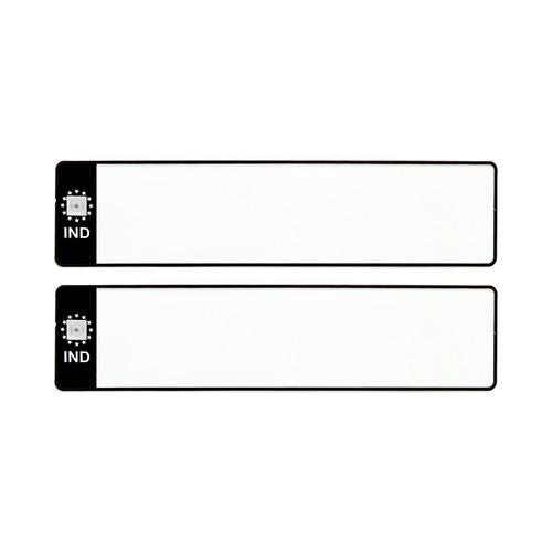 BLANK BLACK IND  CAR LONG NUMBER PLATES