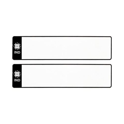 BLACK BLANK IND CAR MINI NUMBER PLATES