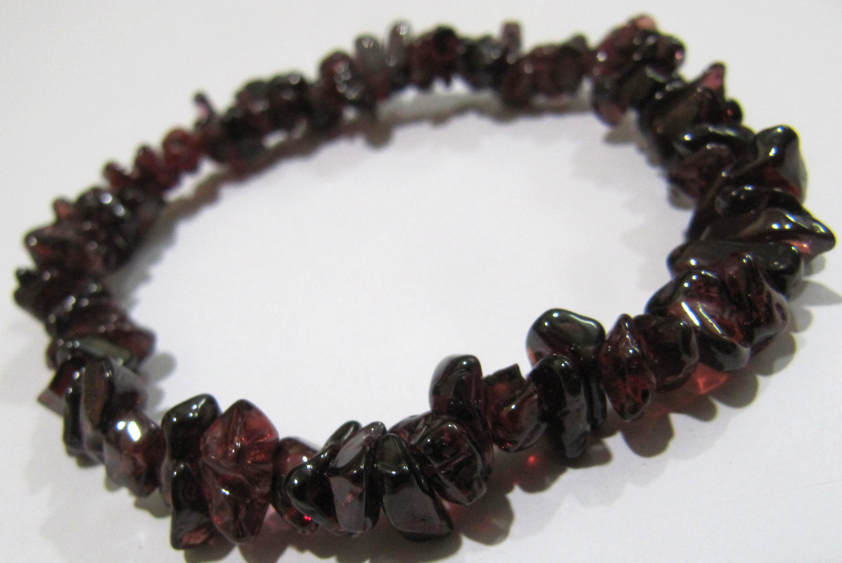 Natural Garnet Chip Bracelet Gravel Uncut Nugget 6mm To 9mm Beads