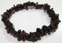Natural Garnet Chip Bracelet Gravel Uncut Nugget 6mm To 9mm Beads