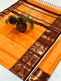 Partywear Ethnic Cotton Silk Saree