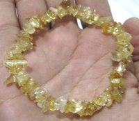 Natural Citrine Chip Bracelet Gravel Uncut Nugget 6mm To 9mm