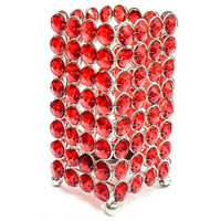 Decorative Red Crystal Tealight Holder