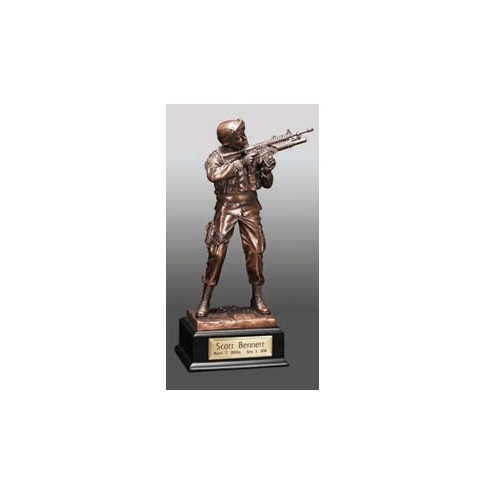 Army Infantry with Nameplate Aluminum Urn