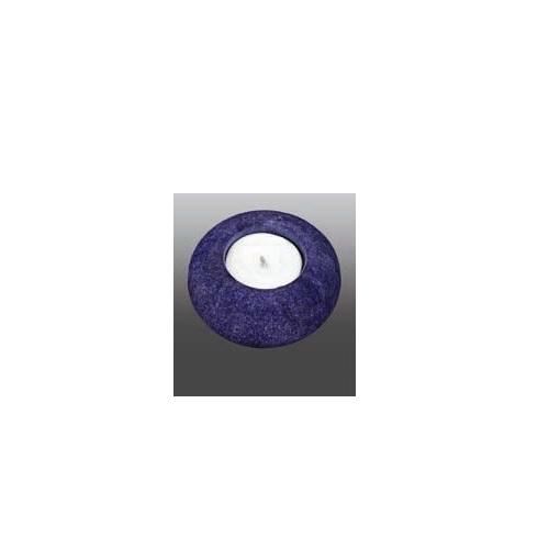 Blue Marble Round Aluminum Urn