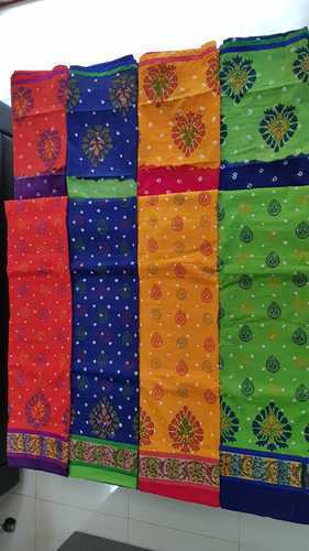 Unstitched Kalamkari Hand Printed Multi Block Dupatta