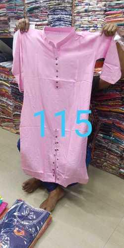 Pink Designer Cotton Kurti