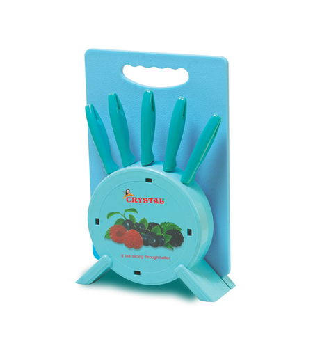 KITCHEN KNIFE BLOCK WITH CHOPPING BOARD