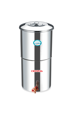 STAINLESS STEEL 18 LTR. WATER FILTER WITH 2 CANDLES