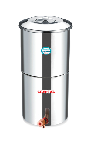 STAINLESS STEEL 24 LTR. WATER FILTER WITH 3 CANDLES