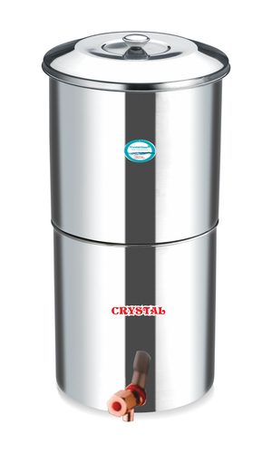 STAINLESS STEEL 30 LTR. WATER FILTER WITH 3 CANDLES