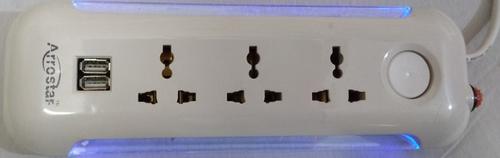 Power Strip 1+3 With 2 USB