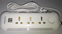 power strip 1+3 with 2USB AND LED