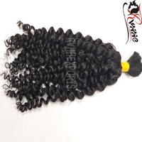 Remy Bulk Curly Virgin Cuticle Aligned Indian Hair Extension