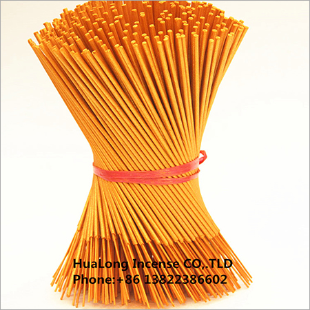 9inch raw agarbatti metallic gold bamboo incense sticks