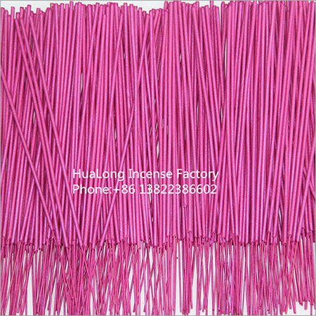 9inch raw agarbatti metallic pink bamboo incense sticks