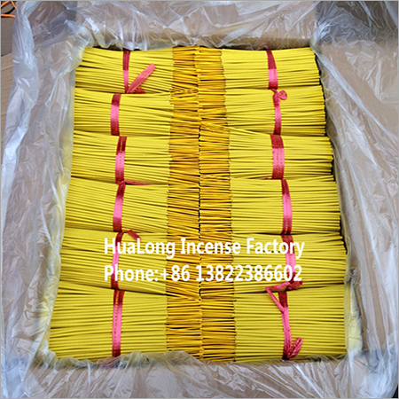 9inch raw agarbatti yellow bamboo incense sticK
