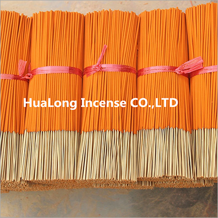 13 inch raw agarbatti Orange bamboo incense sticks
