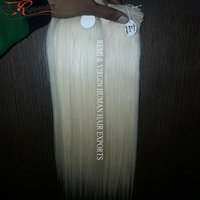 Remy Blonde  Virgin Cuticle Aligned Indian Hair Extension.
