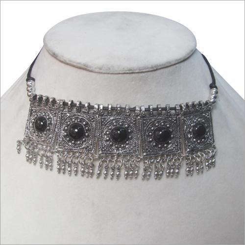 Black Stone Choker Necklace