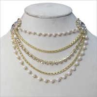 Kundan Chain Pearl Necklace