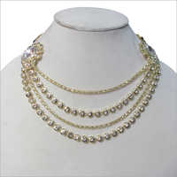 Stone Chain Artificial Necklace