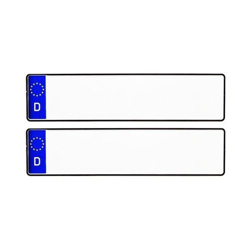 BLUE D CAR MEDIUM NUMBER PLATES