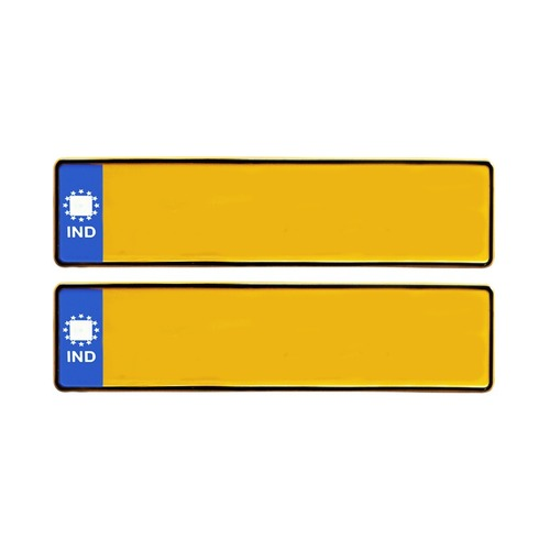 BLUE IND CAR LONG TAXI NUMBER PLATES