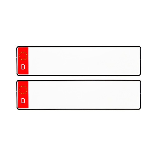 RED D CAR MEDIUM NUMBER PLATES