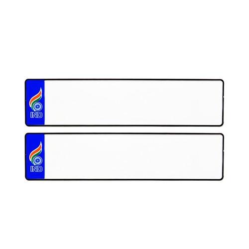 BLUE FLAG CAR MINI BLANK NUMBER PLATES