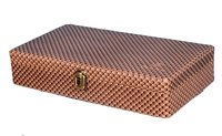 Hard Craft Watch Box Case PU Leather Brownish Mat for 12 Watch Slots