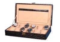 Hard Craft Watch Box Case PU Leather Black Croco for 12 Watch Slots